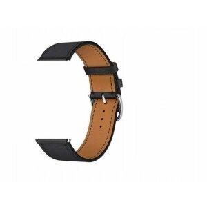 Curea / Bratara Originala  Apple Watch Leather/ Piele 42-44mm Band: Negru - Resigilat