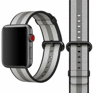 Curea / Bratara Originala Apple Watch MQVR2ZE Nylon Material 42-44mm Band: Gray- Resigilat