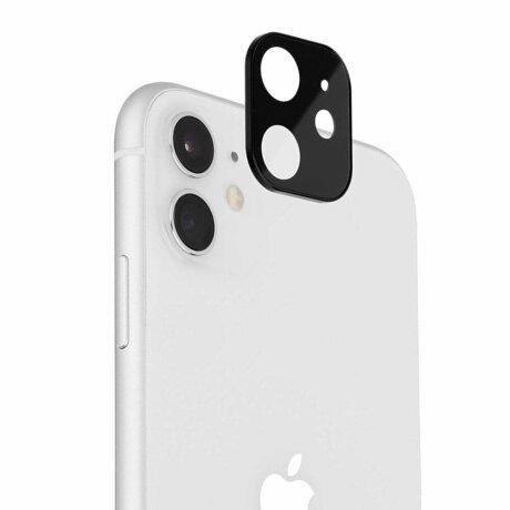 Folie de sticla metalica Lito pentru camera iPhone 12 Mini / Iphone 11 - Black