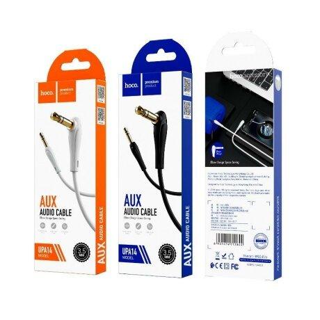Cablu Audio Auxiliar Elbow Design UPA14 Negru Hoco 2M
