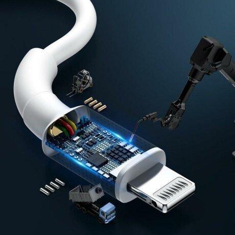 Cablu de date BMX Double-Deck Type-C to Lightning PD 18w, 1.2m - CATLSW-A02 - Alb