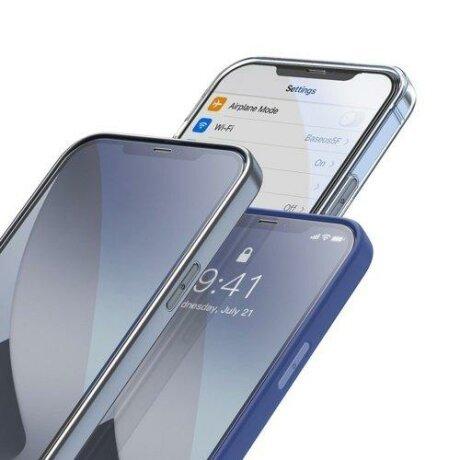 Folie sticla Privacy Baseus 2x Full screen 0,23 mm Anti Spy Light tempered glass with a frame iPhone 12 mini Black