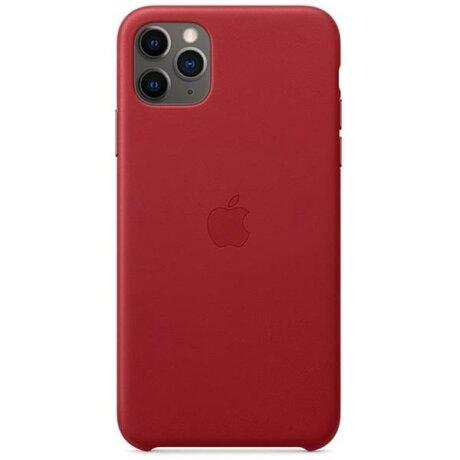 Husa Apple Leather Case Red pentru iPhone 11 Pro MAX