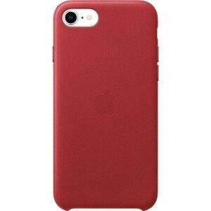 Husa Apple Leather Case Red  pentru iPhone SE 2020 / 8 / 7