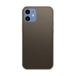 Husa Baseus Frosted Glass Case Hard case with a flexible frame iPhone 12 Pro / iPhone 12 Black