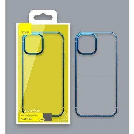 Husa Baseus Shining Case Flexible gel case with a shiny metallic frame iPhone 12 mini Moonlight silver