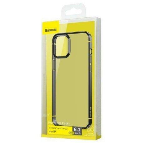 Husa Baseus Shining Case Flexible gel case with a shiny metallic frame iPhone 12 mini Starshine black