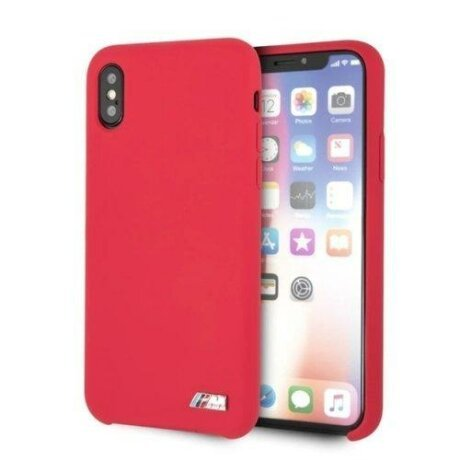 Husa BMW iPhone X /Xs Red Silicone M Collection