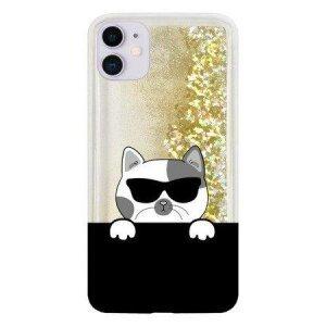 Husa CaseGadget LIQUID CAT iPhone X / XS PRO GOLD