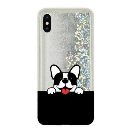 Husa CaseGadget LIQUID CAT iPhone X / XS Silver