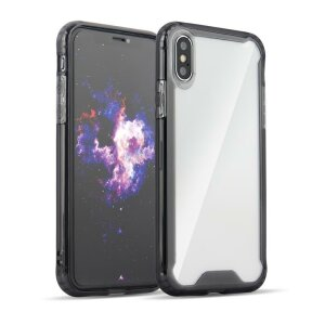 Husa Clear Armor PC Case with TPU Bumper for Samsung Galaxy S9 G960 Black