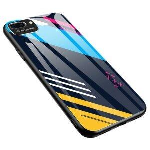 Husa Color Glass iPhone 8 Plus / iPhone 7 Plus