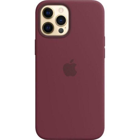 Husa de Silicon Apple pentru iPhone 12 PRO MAX - Visiniu Plum