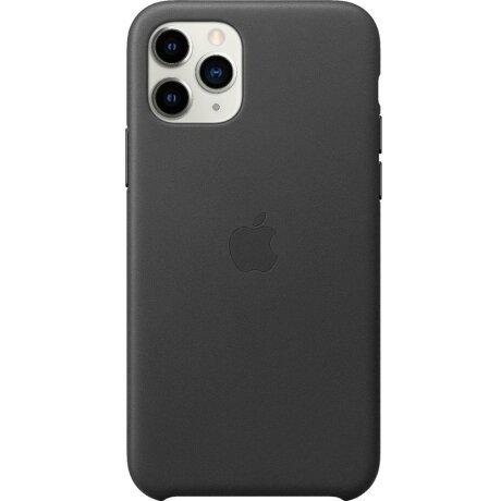 Husa din Piele pentru Apple iPhone 11 Pro Max Leather - Black