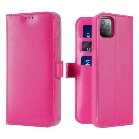 Husa Dux Ducis Kado Bookcase wallet type case pentru iPhone 11 roz