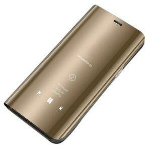 Husa Flip Mirror pentru Galaxy S10 Gold