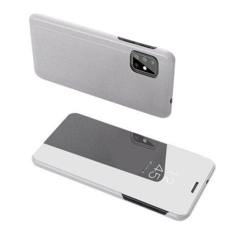 Husa flip Samsung Galaxy S20 Plus silver