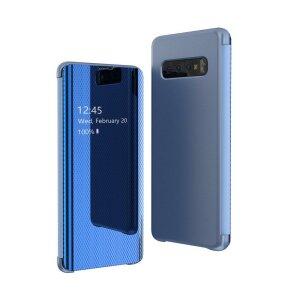 Husa Flip View pentru Samsung Galaxy A70 Blue