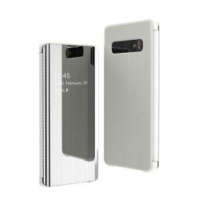 Husa Flip View pentru Samsung Galaxy A70 Silver