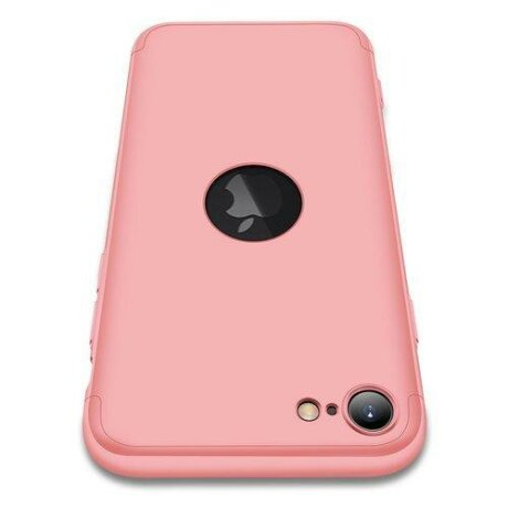 Husa GKK 360 Protection Case Front and Back Case Full Body Cover iPhone 7 , 8 , SE 2020 pink