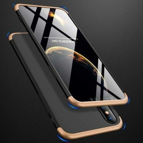 Husa GKK 360 Protection Case Front and Back Case Full Body Cover iPhone XS Max negru-gold