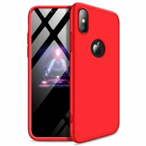 Husa GKK 360 Protection Case Front and Back Case Full Body Cover iPhone XS Max Rosu