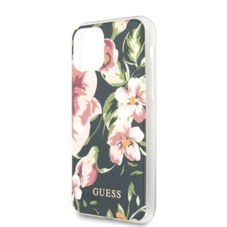 Husa Guess iPhone 11 navy N°3 Flower Collection