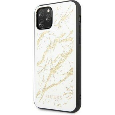Husa Guess iPhone 11 Pro black hard case Glitter Marble Glass