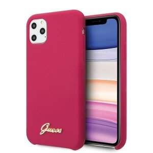 Husa Guess iPhone 11 Pro  hard case Silicone Vintage Gold
