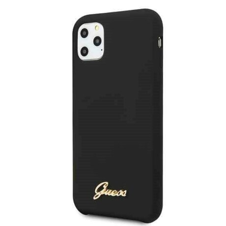 Husa Guess iPhone 11 Pro  hard case Silicone Vintage Gold Logo