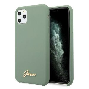 Husa Guess iPhone 11 Pro khaki hard case Silicone Vintage Gold