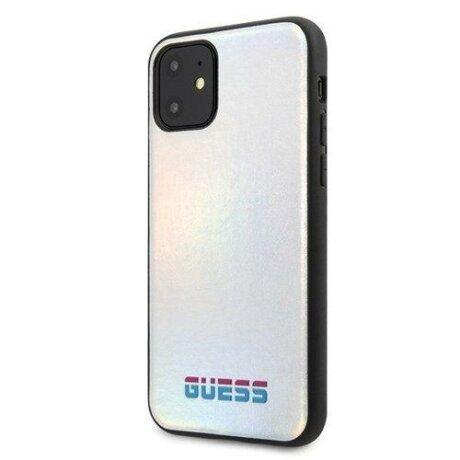Husa Guess iPhone 11 silver hard case