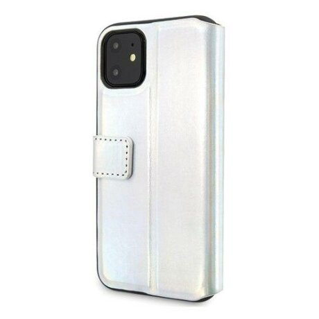 Husa Guess iPhone 11 srebrny silver book