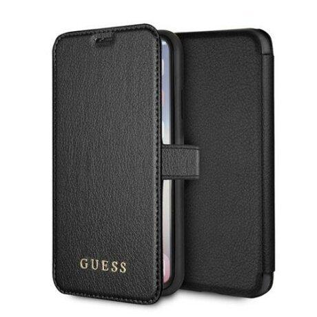 Husa Guess iPhone X/Xs negru book Iridescent