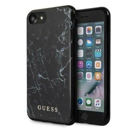 Husa Guess Marble iPhone 7/8/SE 2020 black / negru