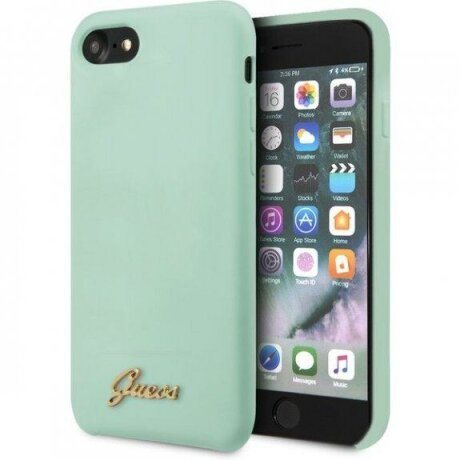 Husa Guess Retro carcasa din silicon pentru iPhone 7 / 8 / SE (2020) - verde