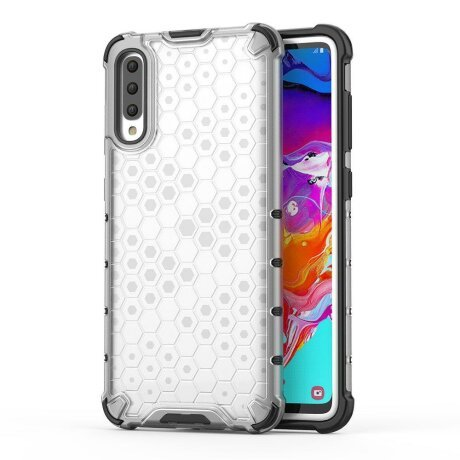 Husa Honeycomb Samsung Galaxy A70 Transparent