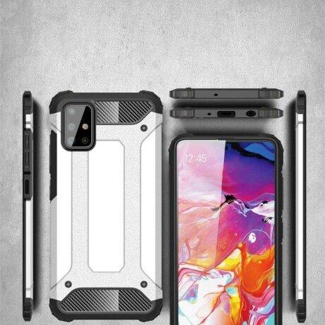 Husa Hybrid Armor Case Tough Rugged Cover for Samsung Galaxy S10 Lite black