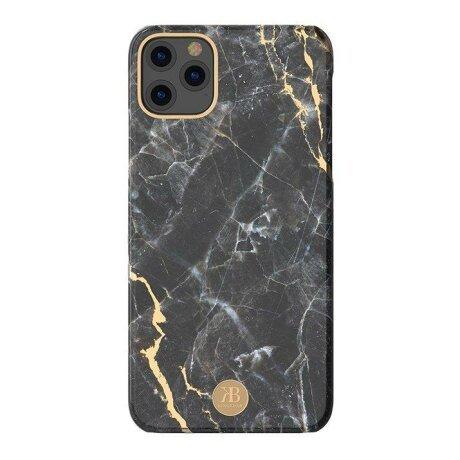 Husa iPhone 11 Kingxbar Marble Series Design Marmura Placa metalica  Negru
