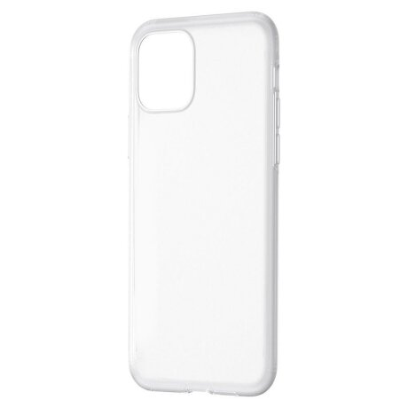 Husa iPhone 11 Pro Baseus Liquid Silica Gel Protective Clear White