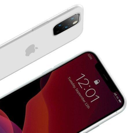 Husa iPhone 11 Pro Baseus Liquid Silica Gel Protective Clear White