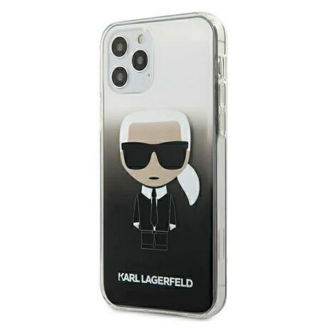 Husa KARL LAGERFELD HARD CASE GRADIENT IKONIK KARL IPHONE 12 MINI BLACK
