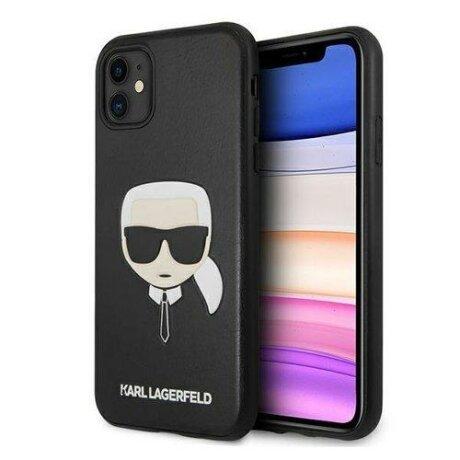 Husa Karl Lagerfeld iPhone 11 negru Ikonik Karl`s Head