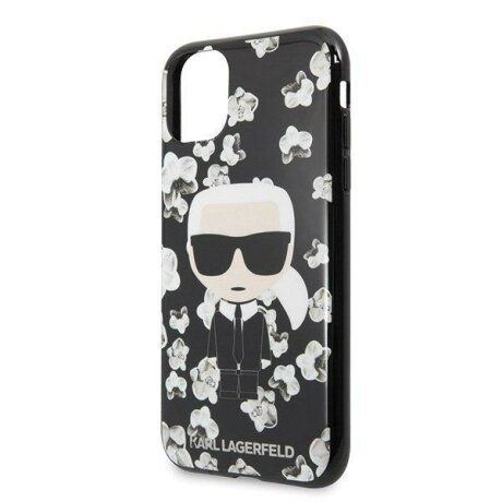 Husa Karl Lagerfeld iPhone 11 Pro Max black Flowe