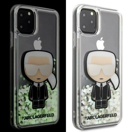 Husa Karl Lagerfeld iPhone 11 Pro Max hardcase Iconic Glitter Glow in the dark