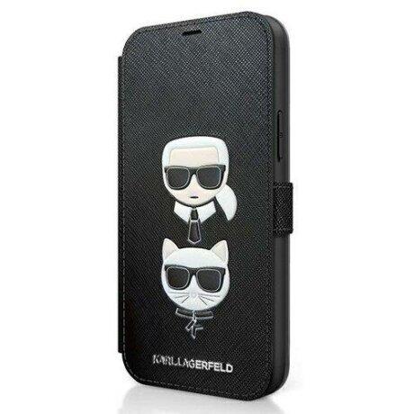 Husa Karl Lagerfeld iPhone 12/12 Pro Negru Karl & Choupette