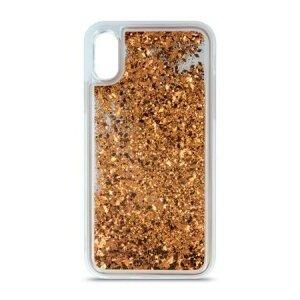 Husa Liquid Glitter iPhone 11 Gold