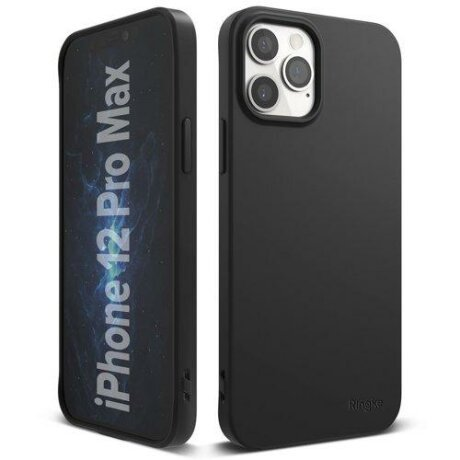 Husa Ringke Air S Ultra-Thin Cover Gel TPU Case for iPhone 12 Pro Max black