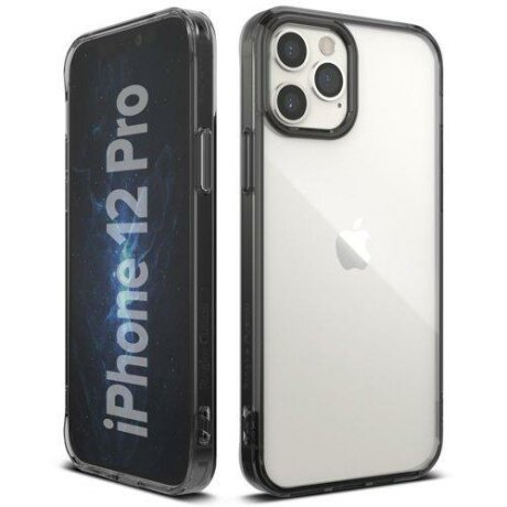 Husa Ringke Fusion PC Case with TPU Bumper for iPhone 12 Pro / iPhone 12 grey