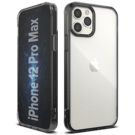 Husa Ringke Fusion PC Case with TPU Bumper for iPhone 12 Pro Max grey